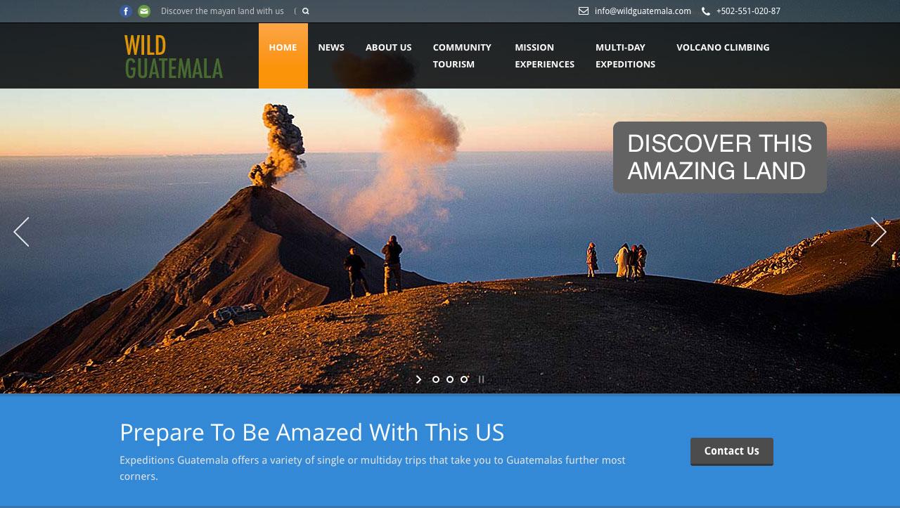 web-desing-wild-guatemala-home-page
