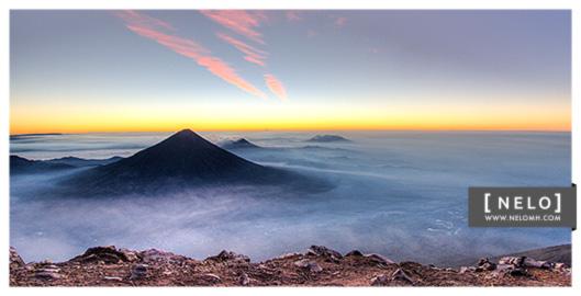 Volcán de Agua visto desde el Acatenango